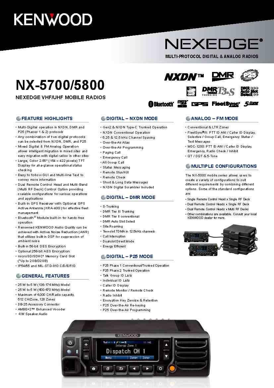 NX-5800 UHF Digital Two-way Radio P25(Ⅰ&Ⅱ)NXDN ,DMR Multi-Digital
