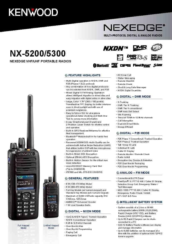 NX-5200 VHF Digital Two-way Radio P25(Ⅰ&Ⅱ)NXDN ,DMR Multi-Digital