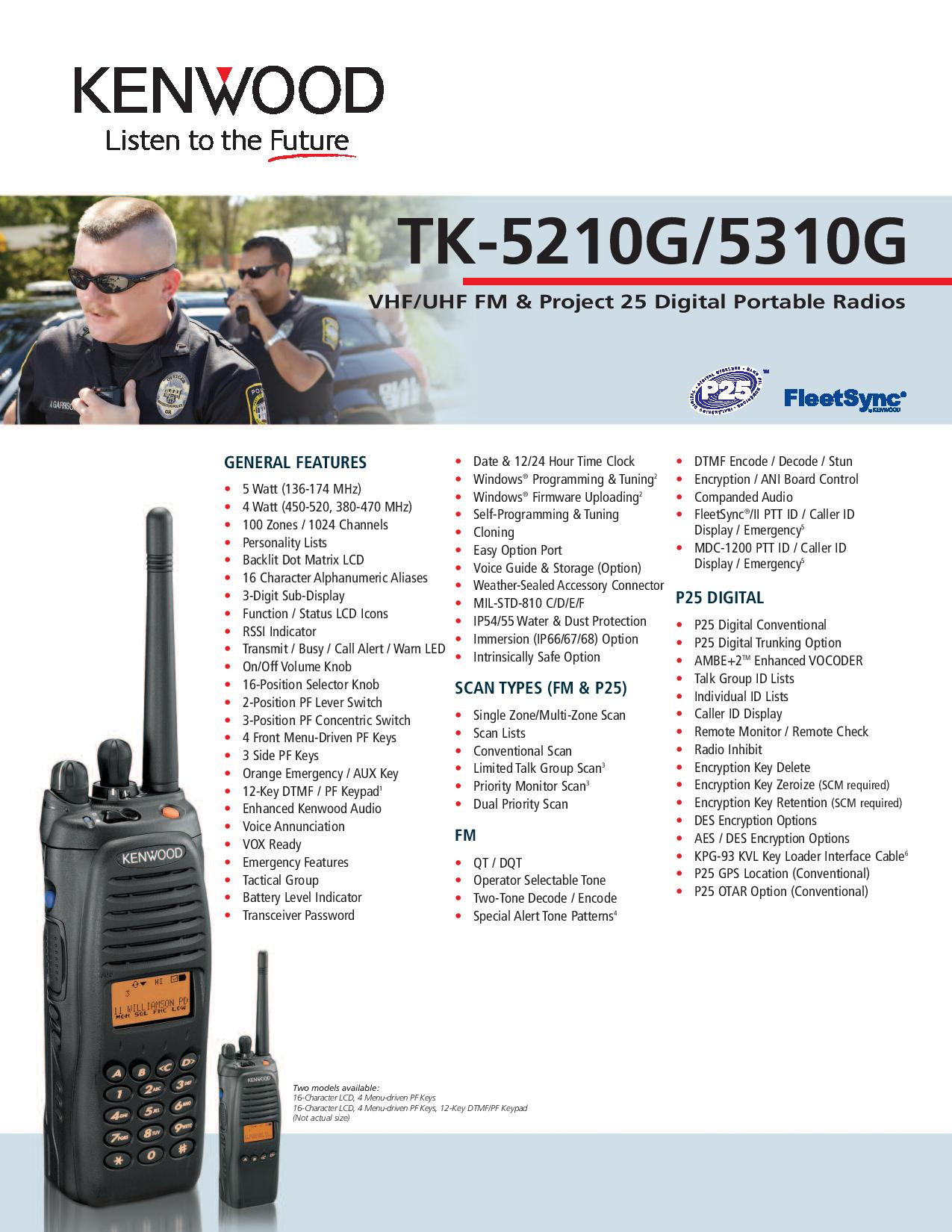 TK-5310(G) UHF Digital Two-way Radio - P25 KENWOOD
