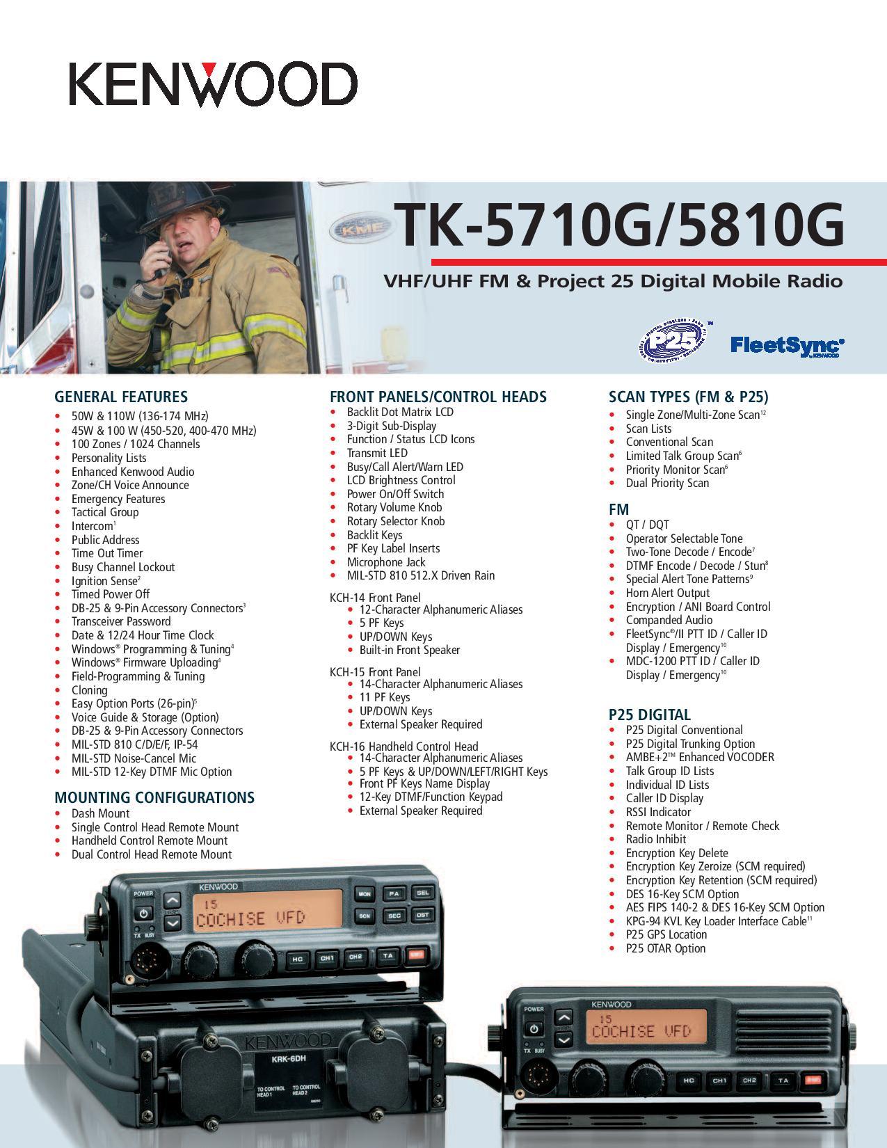 TK-5810(G) UHF Digital Two-way Radio - P25 KENWOOD